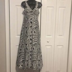 S Small AMERICAN LIVING Black & White Maxi Dress